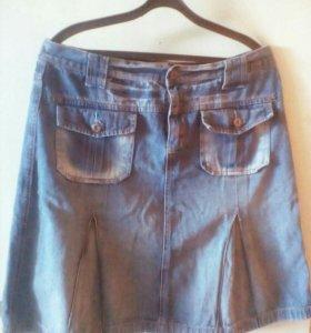 Джинсовая юбка р 48.