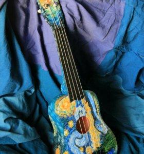 Укулеле \ Гавайская гитара Сопрано Роспись Ван Гог