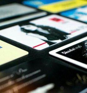 Изготовление визиток 1000 штук односторонние