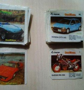 2 коллекции вкладышей Бомбибом (1 и 2 серии)