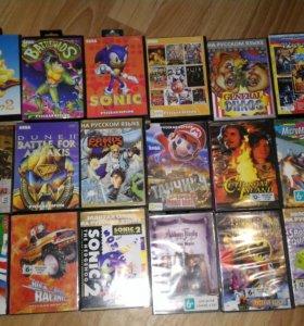 Sega 16bit +картриджи