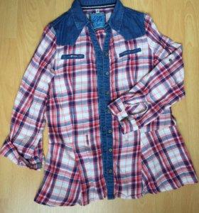 Рубашка с баской