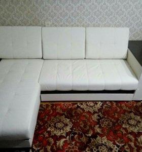 Диван-кровать из эко-кожи