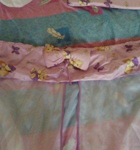 Бортики для детской кровати и тюль для балдахина