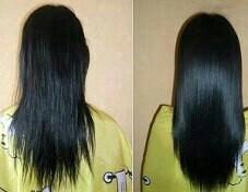 Выпрямление волос кератином.