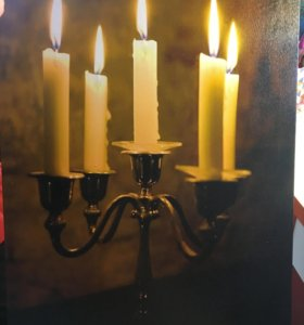 Светодиодная картина свечи