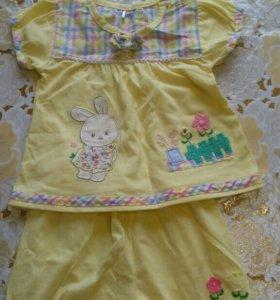 Майка с шортами для девочки