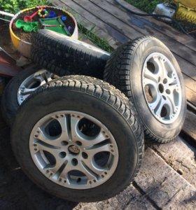 Продам шины диски,r15 разбортовка 5*112