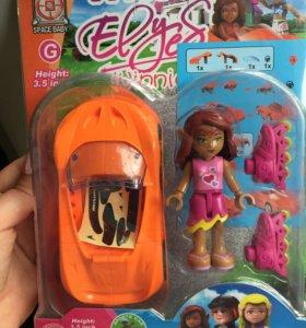 Набор кукла Лего с машиной