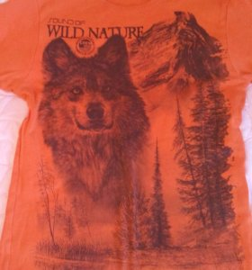 Оранжевая футболка 52р.