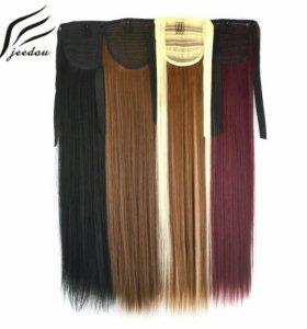 Хвост волос на завязках