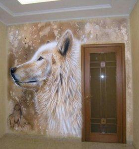 Роспись стен, интерьера