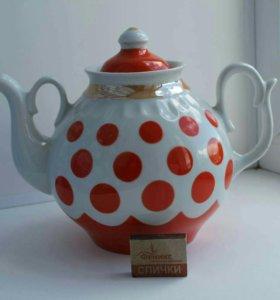 Чайник заварочный фарфоровый большой