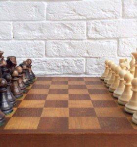 Шахматы антиквариат, ручная работа(зуб кашалота)
