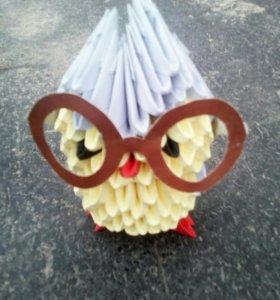 Умная сова оригами