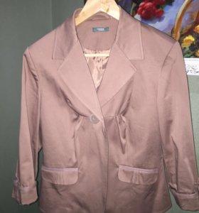 Пиджак темно-кремовый