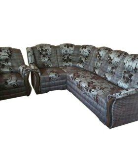 """0535 угловой диван """" Новелла """" с креслом"""