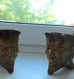 Рюмки чертики, керамика