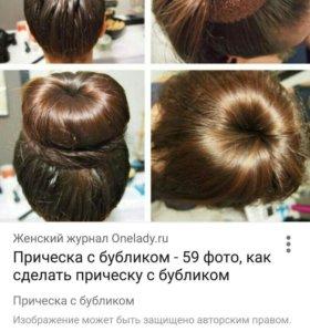 Резинка для волос, бублик