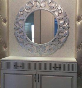 Винтажные зеркала в багетных рамах
