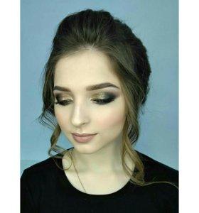 Прическа и макияж, подружка невесты