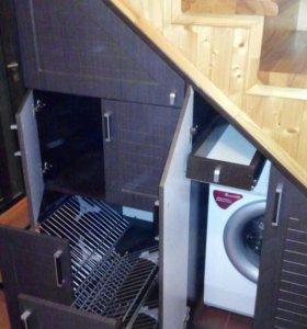 Изготовление шкафа под лестницу.
