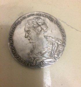 Монета серебренная новодел отличная копия