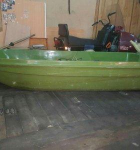 Лодочный мотор YAMAHA+ лодка