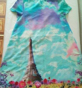 Платье 38 размер, длина 77 см,