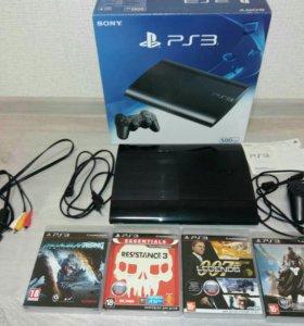 PS3 slim 500 GB с играми.