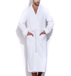 Удлиненный махровый халат из гидро-хлопка (930)