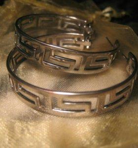 Красивые серьги кольца