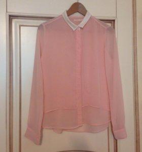 Нежная блузка (шифон) розовая