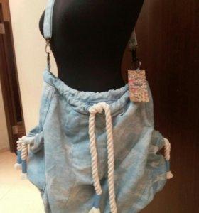 Сумка джинсовая новая