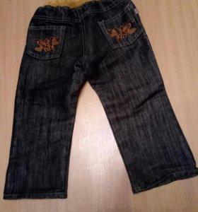 джинсы на ребенка до 3лет(46см длина самих джин.)