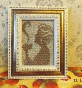Картины из бисера ручной работы