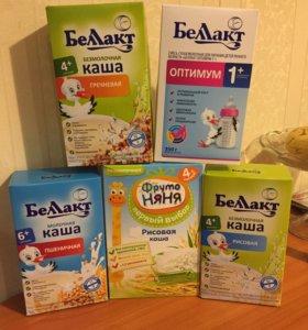 Молочная смесь и каши
