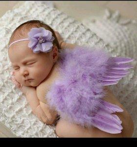 Крылья ангела с повязочкой(у меня розовые)