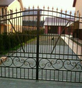 Металические кованые ворота