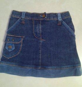 Джинсовая юбка для девочки, рост 122-128