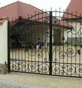 Ворота, ограды, козырьки, лестницы, перила и т.д