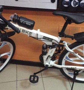 Новый велосипед со складной рамой