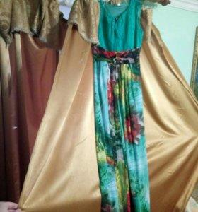 Длинное женское платье