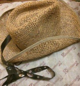 Шляпа из натуральной соломки . Италия