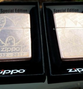 Зажигалка Zippo Fan Antique Copper 2017.