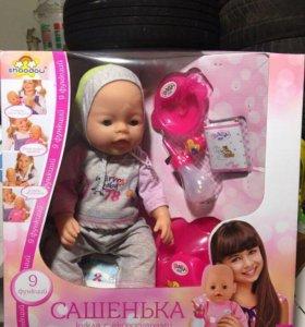 Кукла Baby born Boby doll 9 функций кушает писает