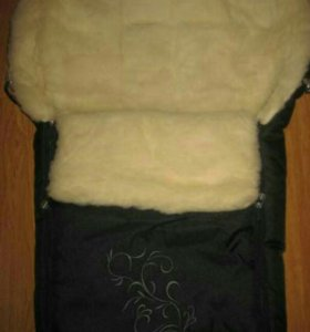 Меховой конверт в коляску (люльку) на овчине