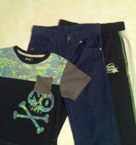 Летняя одежда для мальчика пакетом, рост 110-116