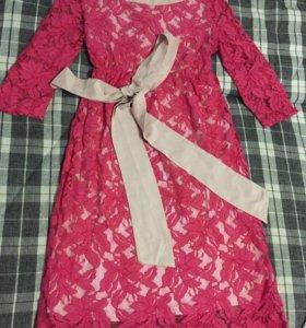 Кружевное гипюровое платье для беременных