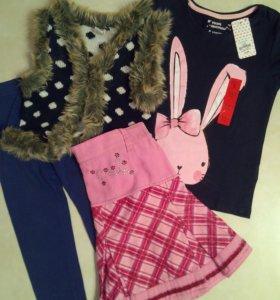 Одежда для девочки пакетом, рост 110-116